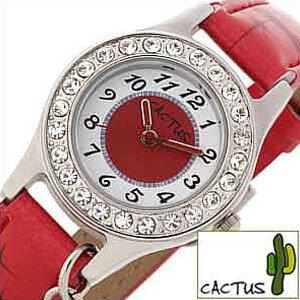 [当日出荷] カクタス 腕時計 キッズ CACTUS時計 CACTUS 腕時計 カクタス 時計 女の子 キッズ 子供用 ホワイト レッド CAC-71-L07 アナログ キッズウォッチ ジュニア 子供用 チャーム シルバー 赤 白