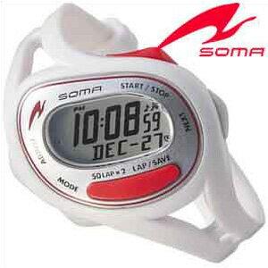 セイコーソーマ腕時計 SEIKOSOMA時計 SEIKO SOMA 腕時計 セイコー ソーマ 時計 ラン ワン Run ONE ユニセックス 男女兼用 シルバー×レッド DWJ23-0003[ランニング トレーニング シンプル スポーツウォッチ][トライアスロン プレゼント ギフト][あす楽]