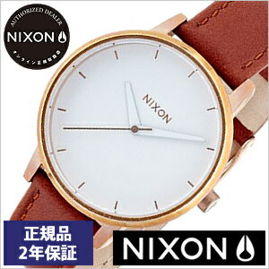 [正規品 2年保証]ニクソン腕時計 NIXON時計 nixon(ニクソン) 腕時計[ニクソン時計] ケンジントン レザー KENSINGTON LEATHER ROSE GOLD WHITE レディース ホワイト NA1081045-00[アナログ ブラウン][送料無料][入学 就職 祝い プレゼント ギフト][あす楽]