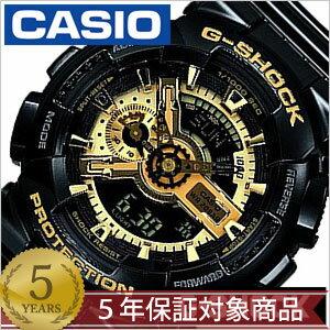 カシオ腕時計 CASIO時計 CASIO 腕時計 カシオ 時計 Gショック G-SHOCK メンズ ゴールド GA-110GB-1AJF[アナデジ デジタル 液晶 防水 ブラック 黒 金][送料無料][プレゼント ギフト][あす楽]