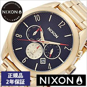 【おひとり様1点限り!】ニクソン腕時計 NIXON時計 NIXON 腕時計 ニクソン 時計 バレット クロノ BULLET CHRONO ALL GOLD BLACK レディース ブラック NA366510-00[メタル ベルト アナログ カスタム クロノグラフ オール ゴールド レッド][送料無料][あす楽]