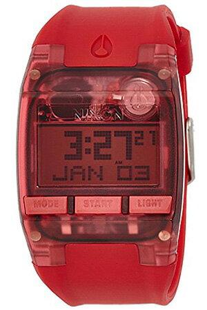 [正規品 2年保証]ニクソン腕時計 NIXON時計 NIXON 腕時計 ニクソン 時計 コンプ COMP ALL RED メンズ レッド NA408191-00[シリコン ベルト 液晶 デジタル アナログ カスタム オールレッド スケルトン][送料無料][プレゼント ギフト]