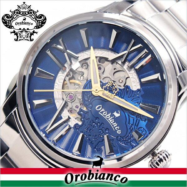 オロビアンコ 時計 オラクラシカ 限定モデル Orobianco TIMEORA 腕時計 ORAKLASSICA LIMITED MODEL NAVY[メタル ベルト 機械式 シルバー ネイビー ブルー ゴールド 人気 おすすめ ビジネス おしゃれ スーツ 大人 タイムオラ クリスマス プレゼント ギフト]