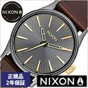 [あす楽]ニクソン腕時計 NIXON時計 NIXON 腕時計 ニクソン 時計 セントリー レザー Sentry 38 Leather Gunmetal Gold …