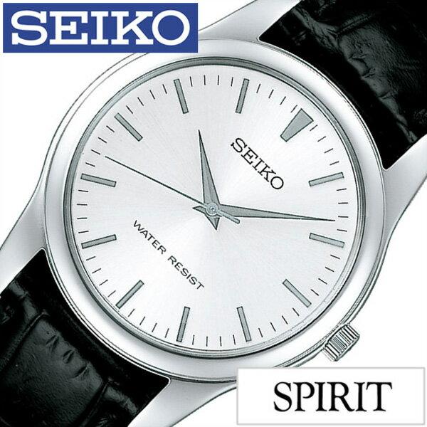 セイコー スピリット 腕時計 SEIKO 時計 SPIRIT SEIKO 腕時計 セイコー時計 メンズ シルバー SCXP031[革 ベルト 正規品 流通 限定 モデル 防水 ブラック シンプル ペアモデル][送料無料][プレゼント ギフト][あす楽]
