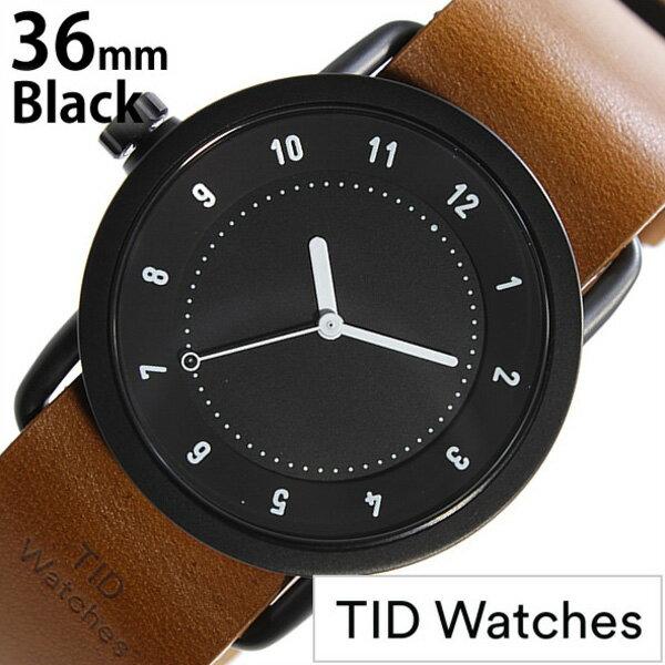 ティッドウォッチ腕時計 36mm TIDWatches時計 TID Watches 腕時計 ティッド ウォッチ 時計 TID No. 1 レディース ブラック TID01-BK36-T[革 ベルト 正規品 おしゃれ 替え 北欧 ブラウン ホワイト][送料無料][クリスマス プレゼント ギフト][B]