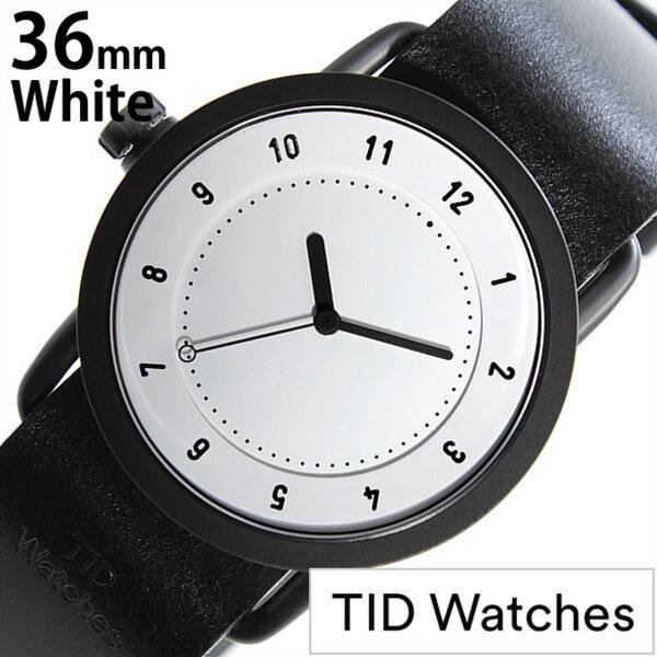 ティッドウォッチ腕時計 36mm TIDWatches時計 TID Watches 腕時計 ティッド ウォッチ 時計 TID No. 1 レディース ホワイト TID01-WH36-BK[革 ベルト 正規品 おしゃれ 替え 北欧 ブラック][送料無料][クリスマス プレゼント ギフト][B]