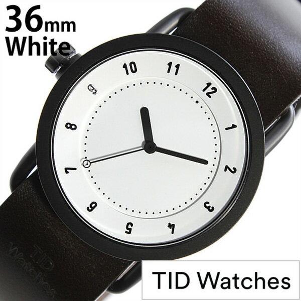 ティッドウォッチ腕時計 36mm TIDWatches時計 TID Watches 腕時計 ティッド ウォッチ 時計 TID No. 1 レディース ホワイト TID01-WH36-W[革 ベルト 正規品 おしゃれ 替え 北欧 ダーク ブラウン ブラック][送料無料][クリスマス プレゼント ギフト][B]