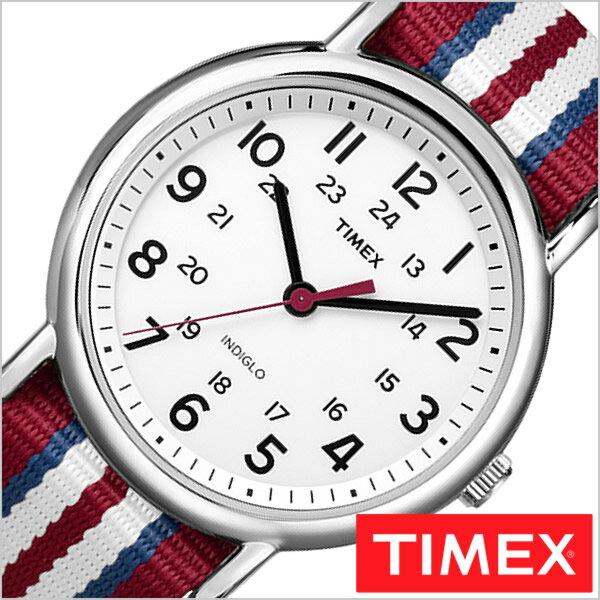 【おひとり様1点限り】タイメックス腕時計 TIMEX時計 TIMEX 腕時計 タイメックス 時計 ウィークエンダー セントラル パーク フル サイズ Weekender Central Park FULL SIZE メンズ ホワイト T2N746[正規品 NATO ベルト ナトー ファッションウォッチ レッド]