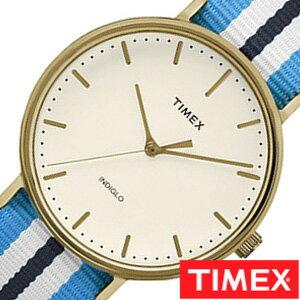 【おひとり様1点限り】タイメックス腕時計 TIMEX時計 TIMEX 腕時計 タイメックス 時計 ウィークエンダー フェアフィールド Weekender Fairfield 41mm メンズ ホワイト TW2P91000[正規品 NATO ベルト ナトー 新品 ファッションウォッチ シンプル ブルー ネイビー ゴールド]