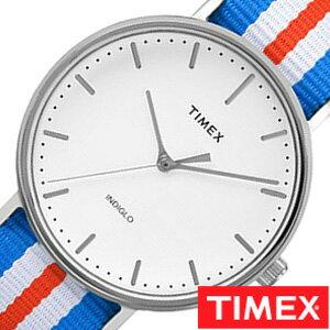 【おひとり様1点限り】タイメックス腕時計 TIMEX時計 TIMEX 腕時計 タイメックス 時計 ウィークエンダー フェアフィールド Weekender Fairfield 41mm メンズ ホワイト TW2P91100[正規品 NATO ベルト ナトー 新品 ファッションウォッチ シンプル ブルー シルバー レッド]