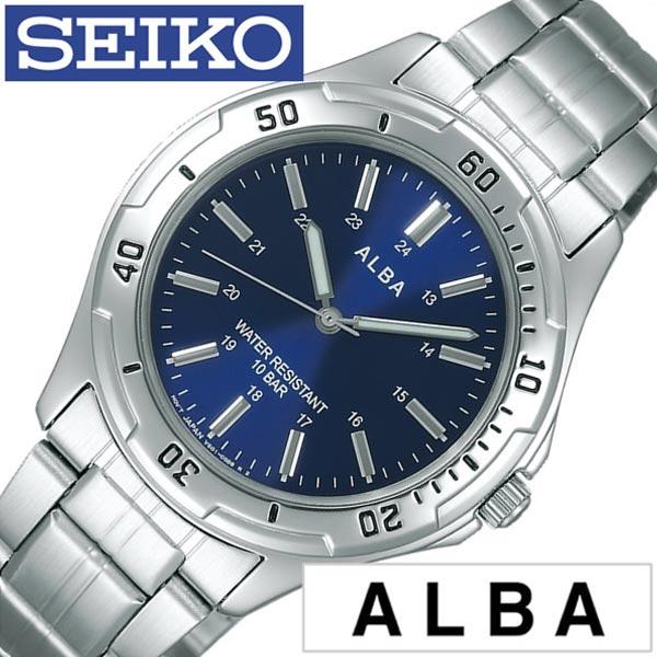 セイコー アルバ 腕時計 SEIKOALBA時計 SEIKO ALBA 腕時計 セイコー アルバ 時計 メンズ ブルー AQPS002[メタル ベルト 正規品 防水 クォーツ アナログ スタンダード シルバー ネイビー][プレゼント ギフト][あす楽]