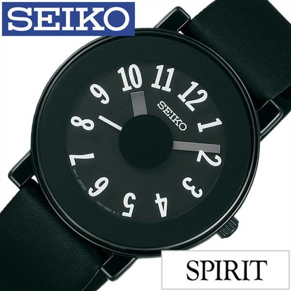 セイコー×ナノ・ユニバース 腕時計 エットレ・ソットサス 限定モデル SEIKO×nano・universe 腕時計 コラボ スピリット スマート セイコー腕時計 SEIKO時計 セイコー 腕時計 SPIRIT SMART メンズ ブラック SCXP039[シンプル ナノユニバース 限定 300本 オールブラック]