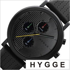 ab65690e58 ヒュッゲ 時計 HYGGE 腕時計 2204 メンズ レディース ブラック HGE020003 正規品 北欧 ミニマル シンプル 個性的 インテリア  人気 ブランド プレゼント ギフト 革 ...
