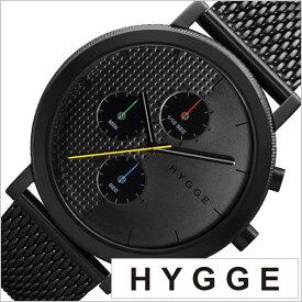 ヒュッゲ 時計 HYGGE 腕時計 2204 メンズ レディース ブラック HGE020005 正規品 北欧 ミニマル シンプル 個性的 インテリア 人気 ブランド プレゼント ギフト ペアウォッチ ユニセックス デザイナーウォッチ ファッション コーデ ホワイト 送料無料 秋冬