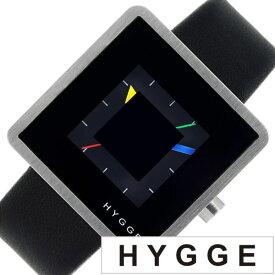 ヒュッゲ 時計 HYGGE 腕時計 2089 メンズ レディース ブラック HGE020008 正規品 北欧 ミニマル シンプル 個性的 インテリア 人気 ブランド プレゼント ギフト プラスチック ペアウォッチ ユニセックス デザイナーウォッチ ファッション コーデ 送料無料 冬