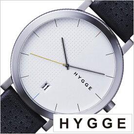 ヒュッゲ 時計 HYGGE 腕時計 2203 メンズ レディース ホワイト HGE020065 正規品 北欧 ミニマル シンプル 個性的 インテリア 人気 ブランド プレゼント ギフト 革 レザー ペアウォッチ ユニセックス デザイナーウォッチ ファッション コーデ ブラック 送料無料 冬