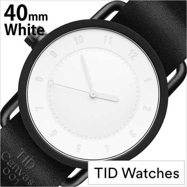 ティッド ウォッチズ 時計 キャンバス 世界500個限定モデル TID Watches 腕時計 メンズ ホワイト TID01-CANVAS40[人気 流行 ブランド 革 レザーベルト 北欧 シンプル ブラック][送料無料][あす楽]
