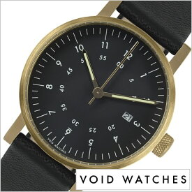 6a4851ca03 ヴォイド 時計 VOID 腕時計 メンズ レディース ブラック VID020041 正規品 北欧 ミニマル シンプル 個性的 インテリア