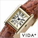 ヴィーダプラス腕時計 VIDA+時計 VIDA+ 腕時計 ヴィーダプラス 時計 ミニレクタンギュラー Mini Rectangular レディース アイボリー J83905-LE-BR 正規品 新作 防水 人気 革 レザー ベルト レクタンギュラー型 スクエア型 ゴールド ブラウン 冬 入試 受験 成人式 お祝い
