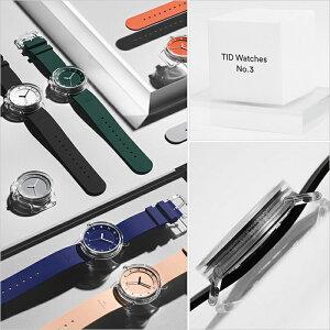 ティッドウォッチズ時計No.3限定モデル38mmメンズレディースTIDwatches腕時計グレーTID03-38GY[正規品北欧ミニマル人気ペアウォッチナンバースリークリアTR90ラバーファッションユニセックスプレゼントギフトシンプルおしゃれ][送料無料]