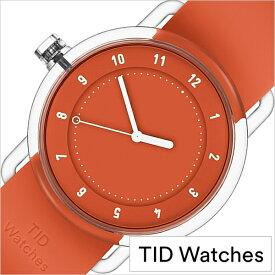 ティッド ウォッチズ 時計 No.3 限定モデル 38mm メンズ レディース TID watches 腕時計 オレンジ TID03-38OR 正規品 北欧 ミニマル 人気 ペアウォッチ ナンバースリー クリア TR90 ラバー ファッション ユニセックス プレゼント ギフト シンプル おしゃれ 秋