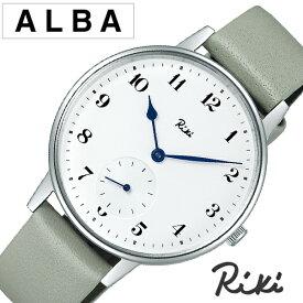 セイコー アルバ リキワタナベ 腕時計 SEIKO ALBA Riki Watanabe 時計 メンズ ホワイト AKPK431 渡辺力 リキ ラウンド 革 ブランド 人気 おしゃれ デザイナーズ ミニマル 個性的 おすすめ シンプル ビジネス ファッション カジュアル プレゼント ギフト 夏