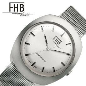 FHB 腕時計 エフエイチビー 時計 ノアシリーズ F930 NOAH SERIES メンズ レディース ホワイト F930WH-MT クラシカル レトロ ヴィンテージ ビンテージ シンプル デザイン 人気 おすすめ おしゃれ ブランド 丸型 ラウンド メタル ベルト バンド プレゼント ギフト