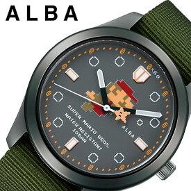 セイコー スーパーマリオ 限定コラボモデル アルバ 時計 SEIKO ALBA Super Mario 腕時計 メンズ レディース グレー ACCK424 人気 ブランド キャラクター ドット ファミコン ゲームボーイ ドット絵 レトロゲーム 死にゲー レア プレゼント ギフト