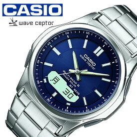 カシオ ウェーブセプター ソーラー 電波 時計 CASIO WAVE CEPTOR 腕時計 メンズ ブルー WVA-M630D-2AJF 人気 ブランド 正規品 カレンダー アラーム アナデジ ファッション おしゃれ ビジネス フォーマル カジュアル プレゼント 入試 受験 成人式 お祝い