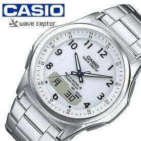 カシオ ウェーブセプター ソーラー 電波 時計 CASIO WAVE CEPTOR 腕時計 メンズ ホワイト WVA-M630D-7AJF 人気 ブランド 正規品 カレンダー アラーム アナデジ ファッション おしゃれ ビジネス フォーマル カジュアル プレゼント 入試 受験 成人式 お祝い