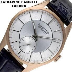 キャサリンハムネット 時計 KATHARINE HAMNETT 腕時計 ベーシックバリエーション Basic Variation メンズ ブラウン KH27H9-04 人気 おすすめ 大人 シンプル フォーマル おしゃれ かっこいい レトロ スーツ 革バンド ローズゴールド ペアウォッチ ビジネス ギフト プレゼント