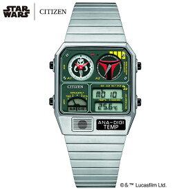 スター・ウォーズ ボバ・フェット 限定モデル シチズン 腕時計 レコードレーベル アナデジテンプ CITIZEN RECORD LABEL ANA-DIGI TEMP STAR WARS メンズ 時計 JG2110-51W [ スターウォーズ 限定 人気 話題 80s 70s 90s プレゼント ギフト ] 母の日