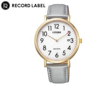 [当日出荷] シチズン 腕時計 レコードレーベル スタンダードスタイルプラス CITIZEN RECORD LABEL Standard Style + レディース ホワイト グレー 時計 AU1082-16A 人気 おすすめ おしゃれ ブランド プレゼント ギフト