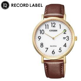[当日出荷] シチズン 腕時計 レコードレーベル スタンダードスタイルプラス CITIZEN RECORD LABEL Standard Style + レディース ホワイト ブラウン 時計 AU1082-24A 人気 おすすめ おしゃれ ブランド プレゼント ギフト