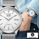 シチズンコレクションレコードレーベル時計CITIZENCOLLECTIONRECORDLABEL腕時計メンズホワイトNH8390-89A人気ブランド復刻大人キレイ可愛い仕事スーツシンプルオシャレプレゼントギフト