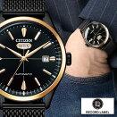 シチズンコレクションレコードレーベル時計CITIZENCOLLECTIONRECORDLABEL腕時計メンズブラックNH8396-82E人気ブランド復刻大人キレイ可愛い仕事スーツシンプルオシャレプレゼントギフト