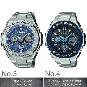 Gショック腕時計G-SHOCK時計Gショック腕時計カシオ時計ジーショックG-SHOCKG-STEELG-SHOCKG-STEELメンズ/ブラックGST-W110D-1AJF[アナデジ/デジタル/タフソーラー/電波時計/液晶/防水/シルバー/Gスチール]
