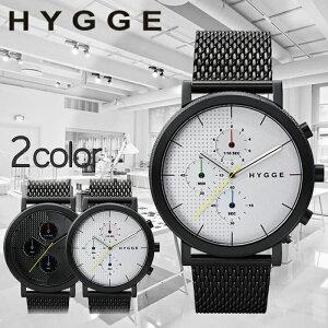ヒュッゲ時計HYGGE腕時計2204メンズレディースホワイトHGE020004[正規品北欧ミニマルシンプル個性的インテリア人気ブランドプレゼントギフトペアウォッチユニセックスデザイナーウォッチファッションコーデブラック][送料無料]