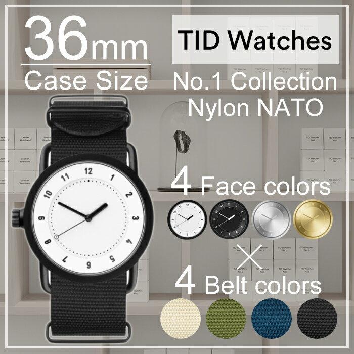 ティッドウォッチ 時計 ホワイト ブラック シルバー ゴールド No.1 TIDWatches時計 36mm TID Watches No.1 腕時計 ティッド TIDウォッチ 時計 TID腕時計 メンズ レディース ユニセックス 男女兼用[NATO ベルト おしゃれ 北欧 アナログ ナトー][送料無料]