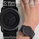 ティッドウォッチズ No.1 世界300本限定 ブラックエディション 36mm 時計 TID Watches Black Edition 腕時計 オールブ…