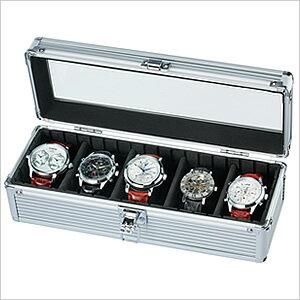 「腕時計の収納方法でお困りの方へ♪」5本収納コレクションケース[コレクションボックス] 時計収納ケースSE-54015AL[ディスプレイ ウォッチケース 時計ケース 腕時計ケース][プレゼント ギフト][あす楽]