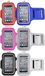 iPhone5専用アームバンド(レッド・ブルー・ビビットピンク・シルバー・ブラック・ホワイト)エクササイズやジョギングにアイフォン5カバースマホケース