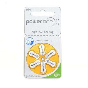 6個セット¥350 補聴器用空気電池PR536 P10 ドイツ Power One製 補聴器用電池 パワーワン ボタン電池 補聴器 電池