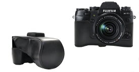 FUJIFILM 富士フィルム X-T1 レンズキット対応 カメラケース&ストラップセット ブラック 黒