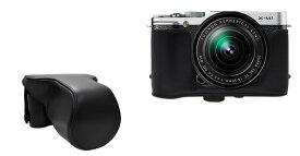FUJIFILM 富士フィルム X-M1 カメラケース&ストラップセット ダブルレンズキット対応 ブラック レッド ブラウン