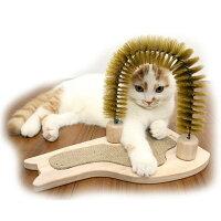 猫用おもちゃウッディーキャットーイすっきりブラシッポ爪磨きつきドギーマンハヤシ