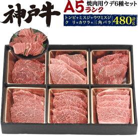 送料無料 A5ランク神戸牛 合計480g(約3〜4人用) 神戸牛焼肉セット バーベキューセット トンビ、ミスジ、ウワミスジ、クリ、カワラ、三角バラ 希少部位 食べ比べセット ブランド牛 焼き肉用 ブランド黒毛和牛 牛肉 神戸ビーフ 神戸肉 kobebeef 通販 BBQ 贈答 ギフト