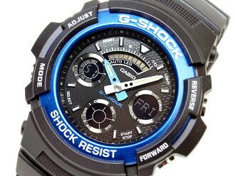 CASIOカシオ Gショック アナログ×デジタルWrist watch Blue海外Model AW-591-2A