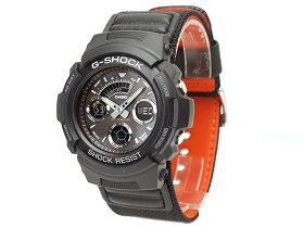【CASIOG-SHOCK】カシオGショックM-SPECアナログ×デジタル腕時計ブラックAW591MS-1ADR